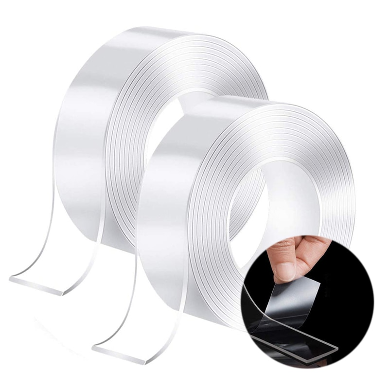 1/3/5M Transparent Double Sided Tape Nano Traceless Waterproof Tape Cleanable Fixed Carpet Socket Adhesive Bath Tapes Stickers