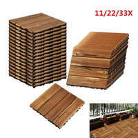 11/22/33pcs Mosaic Wood floor texture Wooden tiles terrace tile floor tile terrace covering balcony garden wood
