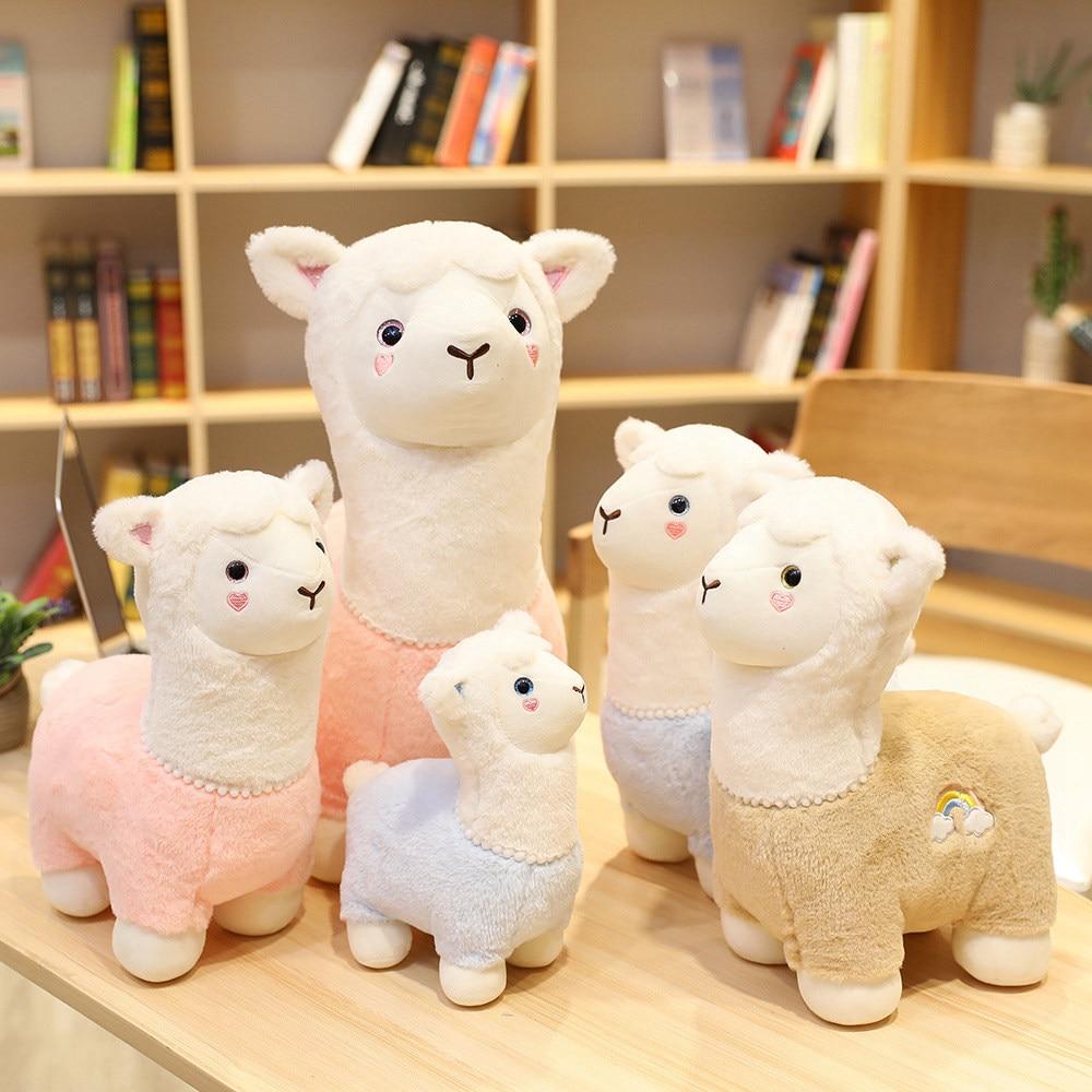 New 2c/35/45cm Cute Alpacasso Alpaca Plush Toys Super Soft Stuffed Animal Sheep Pillow Dolls for Children kawaii Birthday Gifts