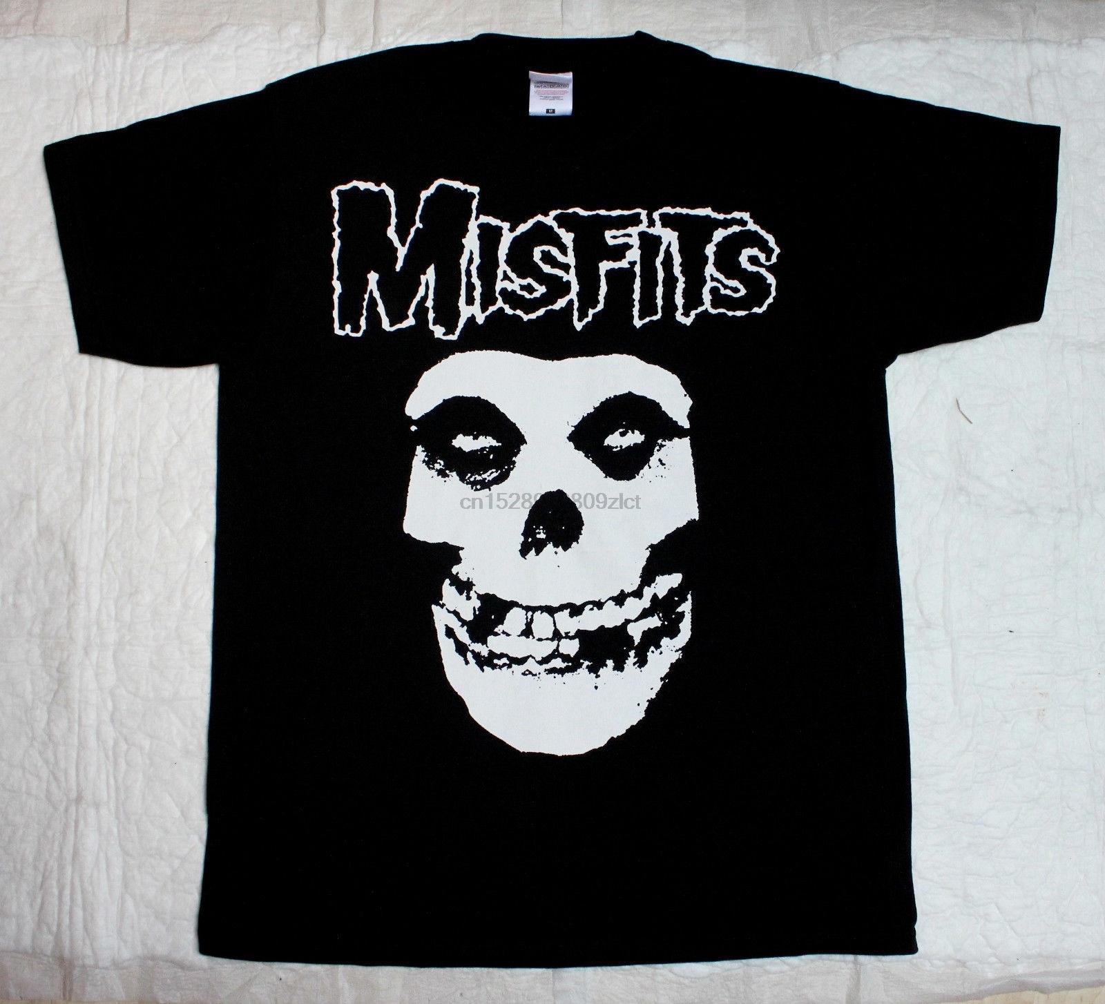Los incompatibles calavera Psychobilly Horror Punk Goth S 2Xl hombres camiseta negra
