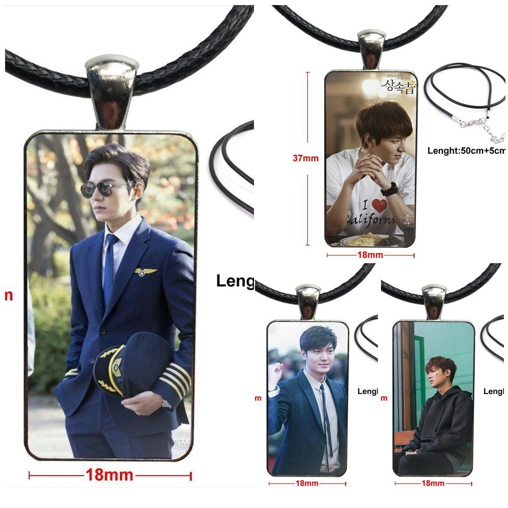 Collar de moda hecho a mano rectángulo forma gargantilla collar joyería Multi diseños para hombres mujeres regalo moda Lee Min Ho