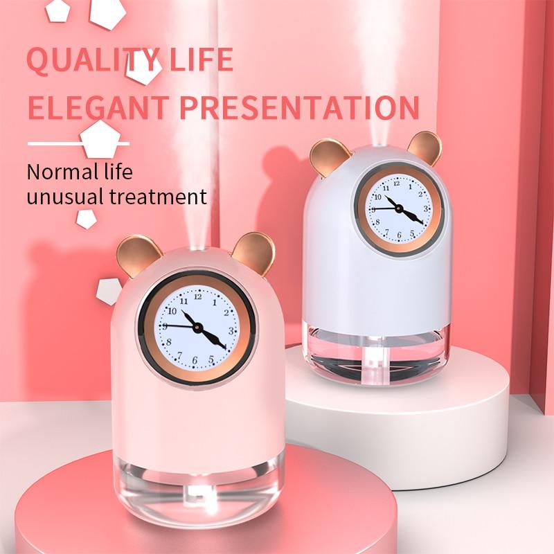 New Cute Pet Mini Clock Humidifier Home USB Small Portable Air Atomizer Office Night light Ultrasonic Aroma Diffuser Gift