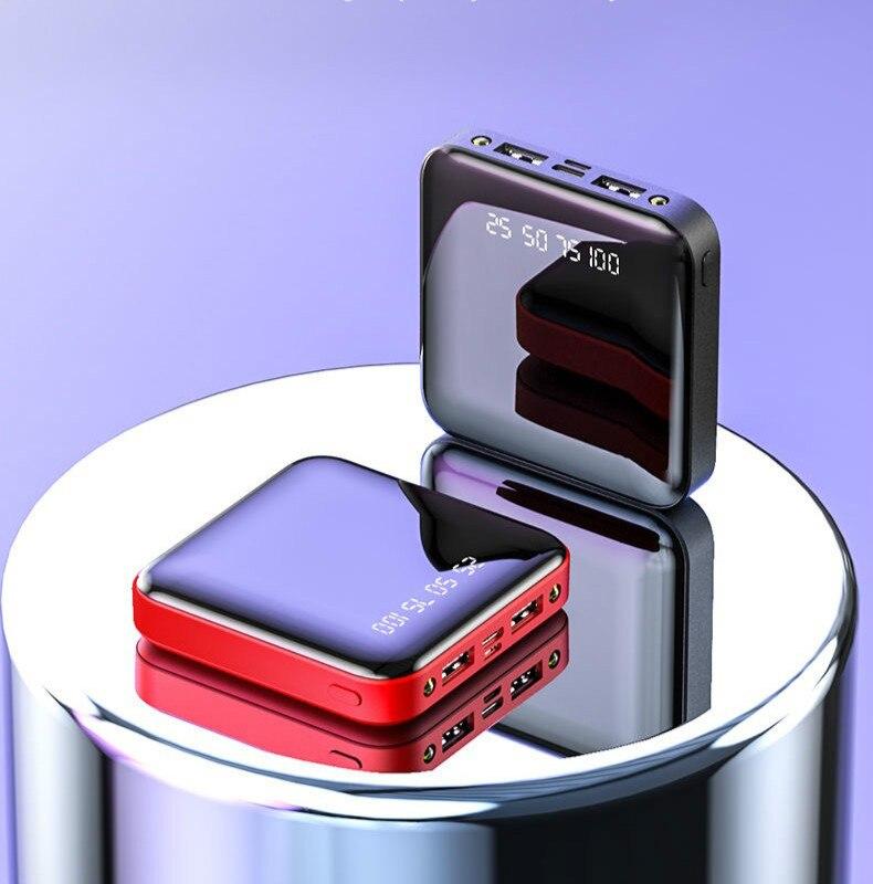 Mini Power Bank 30000mAh For iPhone X Xiaomi Mi Powerbank Pover Bank Charger Dual Usb Ports External