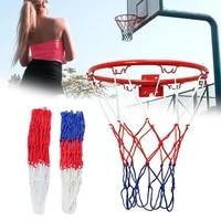 1pcbasketball rim mesh durable basketball net heavy standard rim duty net basketball fits nylon mesh goal rims accessories z0c4