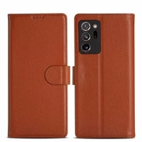 real genuine leather flip cover protect fundas bag for samsung galaxy note 20 retro vintage wallet case for samsung note20 ultra