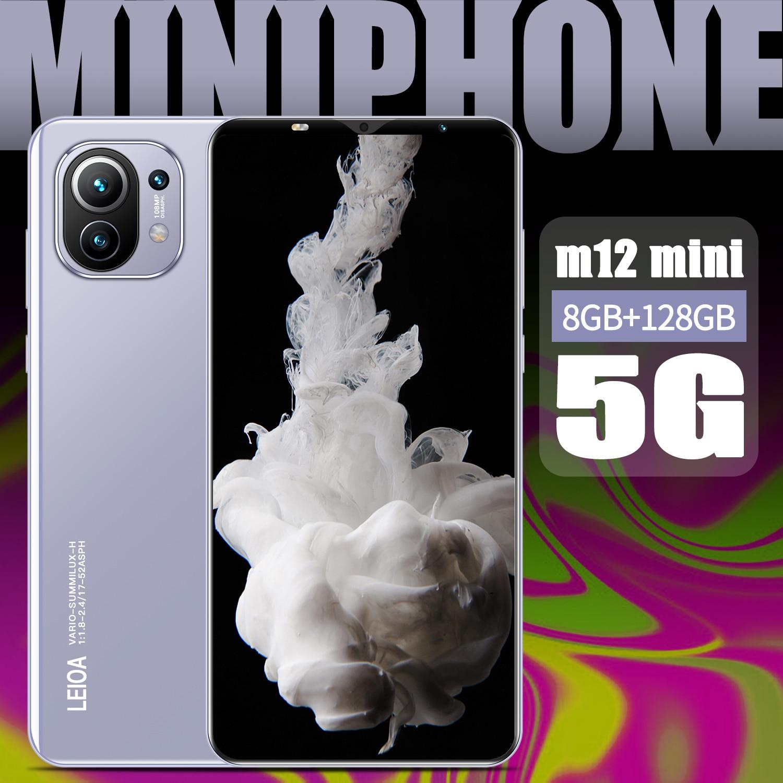 M12mini 5.2 بوصة 4800mAh بصمة الوجه إفتح 10 كور الهواتف الذكية العالمية 8 + 128GB المزدوج سيم + مايكرو SD رخيصة هاتف محمول MTK6595