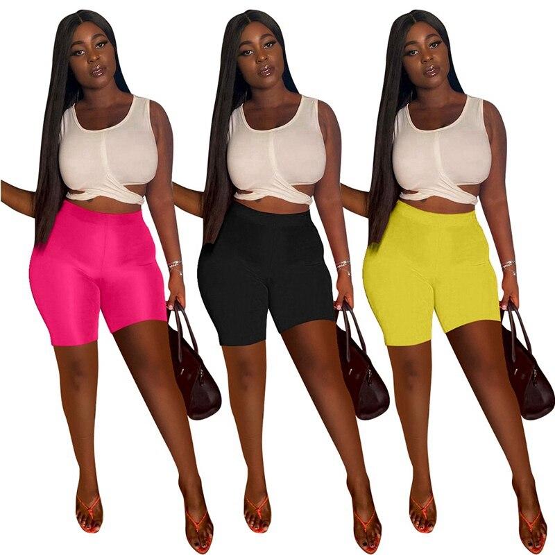 Женские короткие спортивные костюмы, облегающие футболки без рукавов с вырезами и завышенной талией, велосипедные шорты, повседневная одеж...