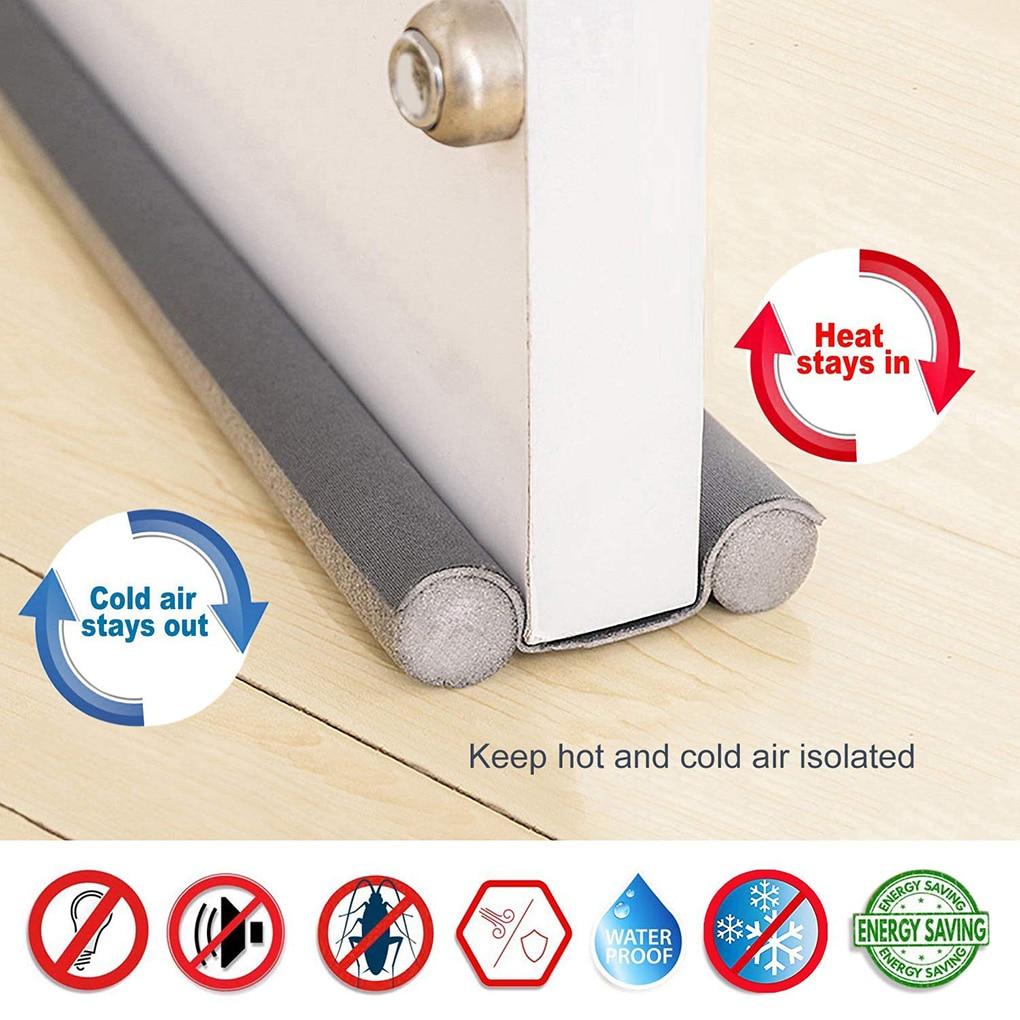 Under Door Draft Guard Stopper Sound Proof Reduce Noise Door Bottom Sealing Weather Strip Under Door