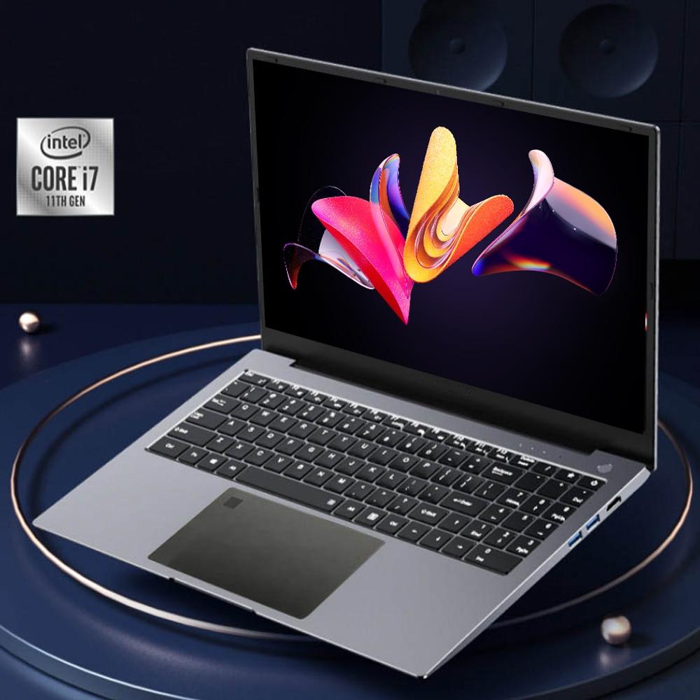 Fingerprint Unlock Gaming Laptop 15.6 Inch HD IPS Screen  Intel Core i7-1165G7  Processor Ultraslim 11th Gen Notebook Windows 10