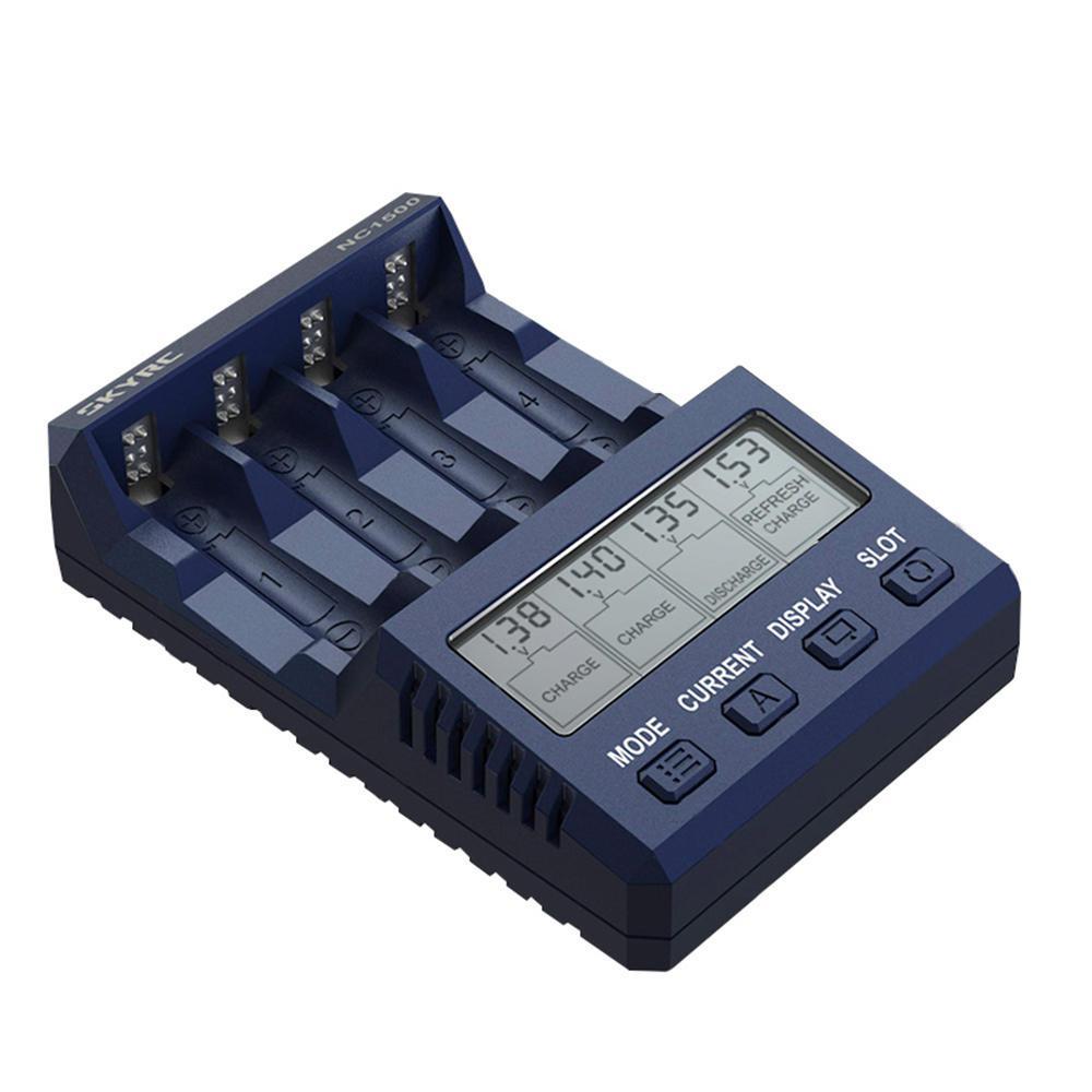 SKYRC NC1500 5V 2.1A 4 слота lcd AA/AAA NiMH батарейка зарядное устройство СОП зарядное устройство анализатор зарядные устройства