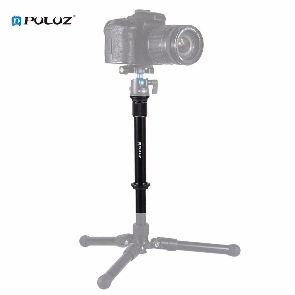 PULUZ Professional 3/8 Inch Screw Metal Handheld Tripod Mount Monopod Extension Rod for DSLR SLR Cameras Accessories Drop Ship
