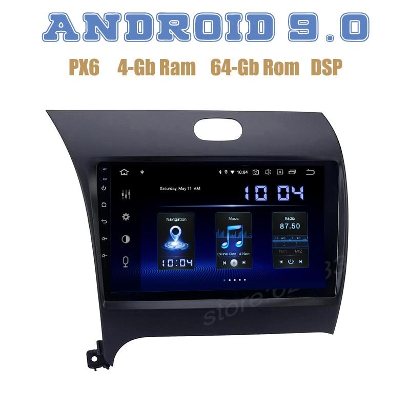 PX6 Android 9,0 GPS para coche DSP de radio jugador para Kia Cerato K3 Forte 2012-2016 con bluetooth 4 + 64GB wifi usb estéreo para coche