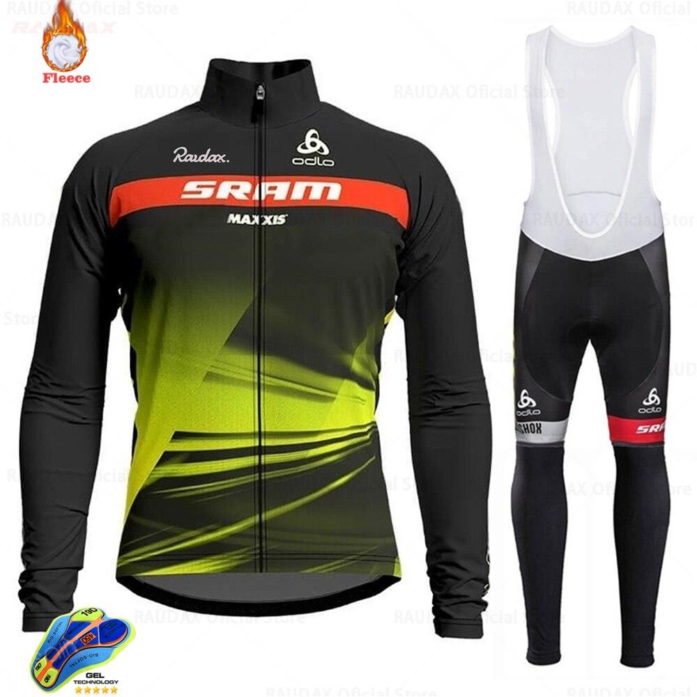 2021 invierno Jersey de Ciclismo de Scottes-rc de lana ropa de Ciclismo MTB pantalones con tirantes de Ciclismo conjunto uniforme de bicicleta Maillot Ciclismo Hombre