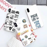 outer banks livin the pogue life phone case white candy color for iphone 11 12 mini pro xs max 8 7 6 6s plus x se 2020 xr
