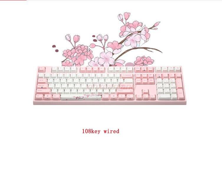 Varmilo VA108M ساكورا السلكية لوحة المفاتيح الميكانيكية VA108MC2N/WP88V-8 لا LED الكرز MX التبديل