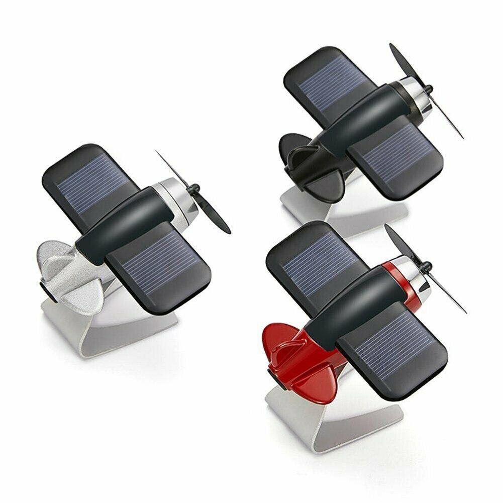 Ambientador de aire de coche avión modelo de avión energía Solar aromaterapia decoración Interior TD326