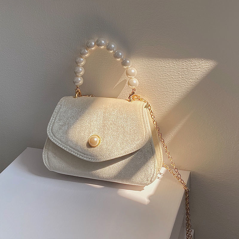 AliExpress - Vintage Small Square Shoulder Bag for Women Pearl Chain Ladies Tote Handbags Evening Clutch Purse Fashion Female Crossbody Bags