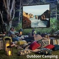 Ecran de projecteur pliable Portable 16 9 HD cinema a domicile en plein air film 3D 150 pouces