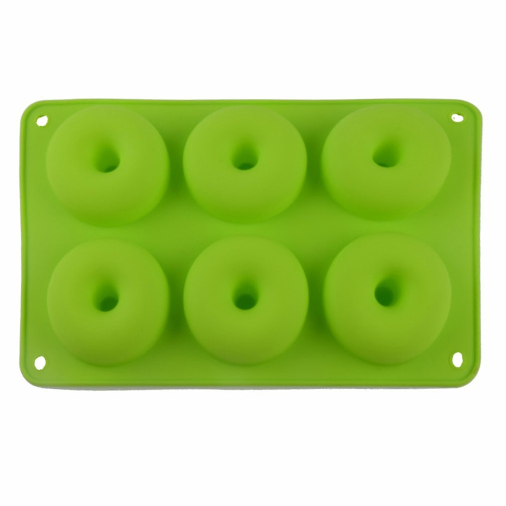 6 Doughnut Silicone Mold Diy Round Cake Angel Circle Biscuit Muffin Mold Donut Silicone Ice Cube Molds Candy Chocolate skeleton skull head silicone chocolate muffin cupcake candy ice cube mold halloween