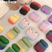 Dégradé mignon écouteur housses pour Apple AirPods Pro 3 bonbons coloré couverture Air dosettes 2 1 3 Protection luxe dur PC mode Boite