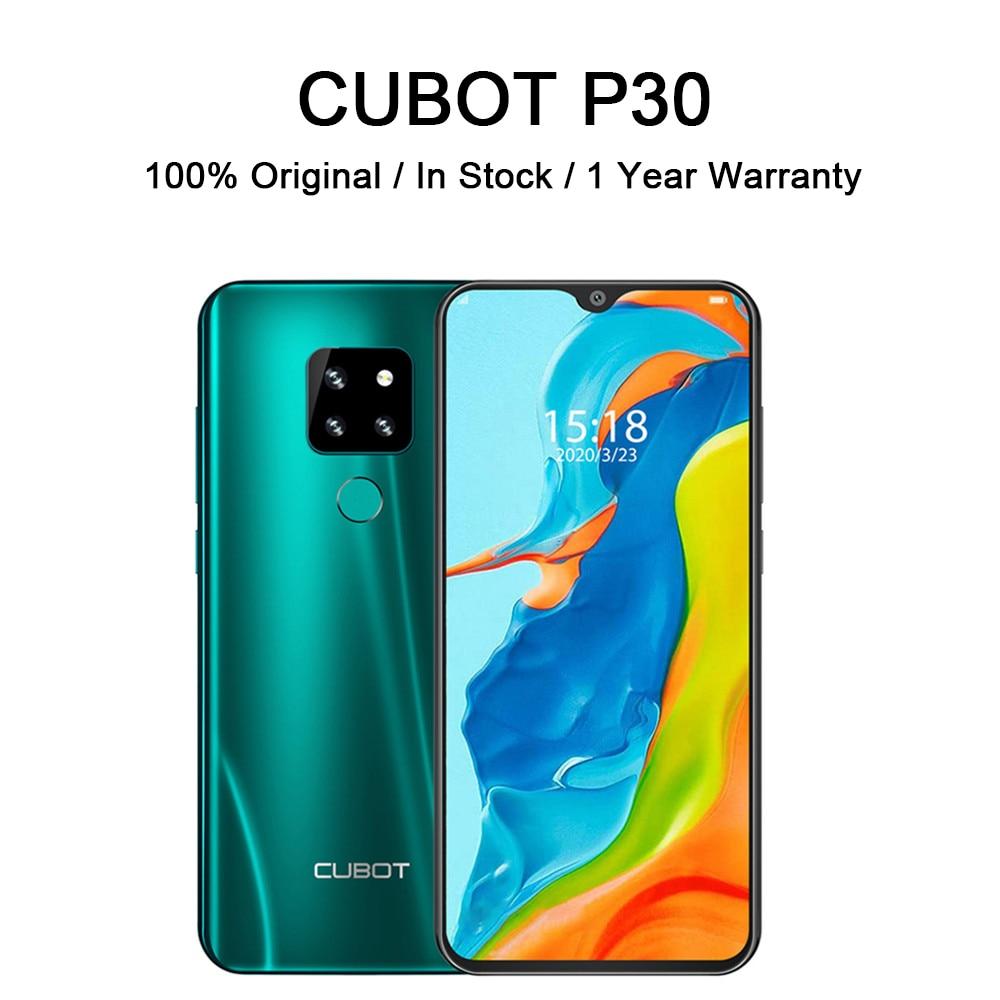 Перейти на Алиэкспресс и купить Чехол для CUBOT P30 смартфон Helio P23 4 Гб + 64 Гб AI задние тройные камеры 4000 мАч смарт мобильный телефон отпечатков пальцев Face ID Android 9,0 пирог
