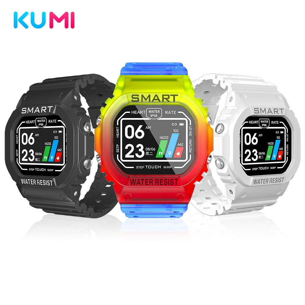 KUMI U2 Sports Smartwatch Smart Watch Men Women Heart Rate Monitor Bluetooth Fitness Watch Smart Bra