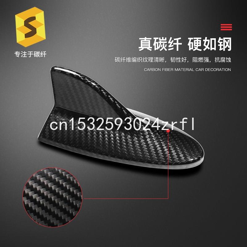 Cubierta de antena de aleta de fibra de carbono para coche, embellecedor de Radio FM AM, aleta adhesiva aérea, Tabe para Lexus LS LX ES