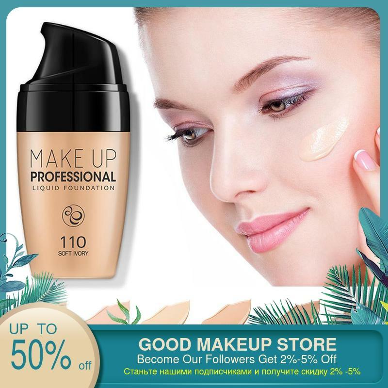 Seda suave Base con suero profesional cobertura mate Fundación líquida de la Base de maquillaje para rostro Conclear BB crema cosmética herramienta