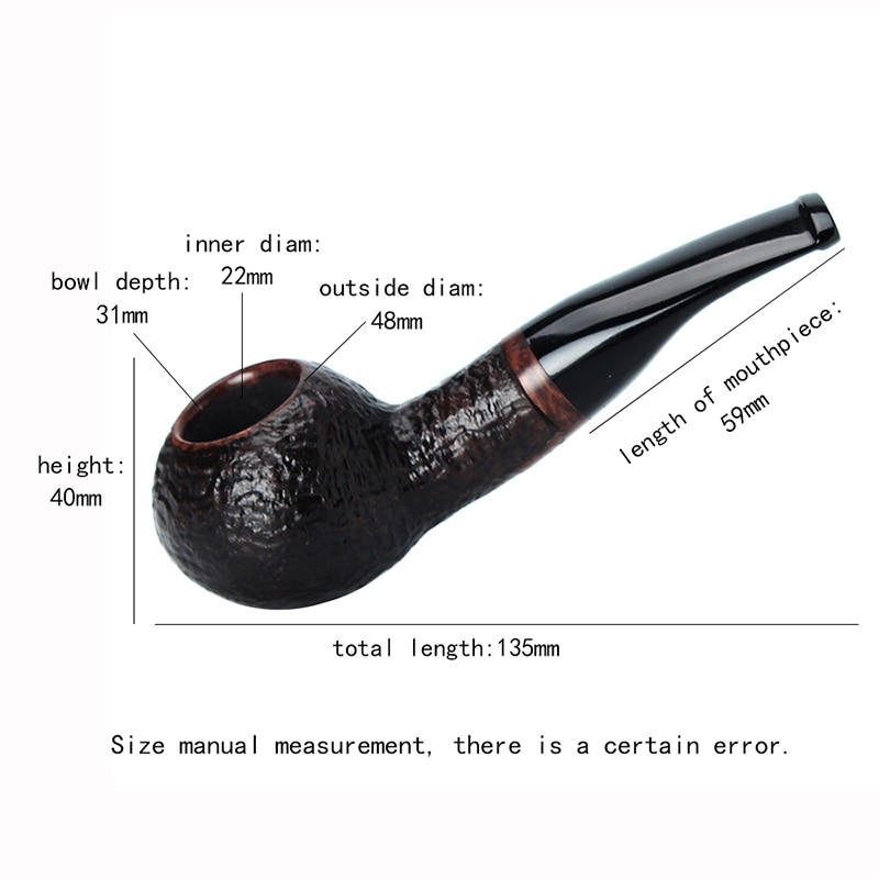 2021 Classical Briar Wooden Smoking Pipe Bent Short Stem Tobacco Pipe Fits for 9mm Filter with 10 Cleaning Tools Kit enlarge