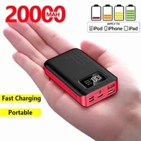 mini power bank dual usb led type c 20000 mah mobile phone portable charger for fast charging input android for iphone xiaomi