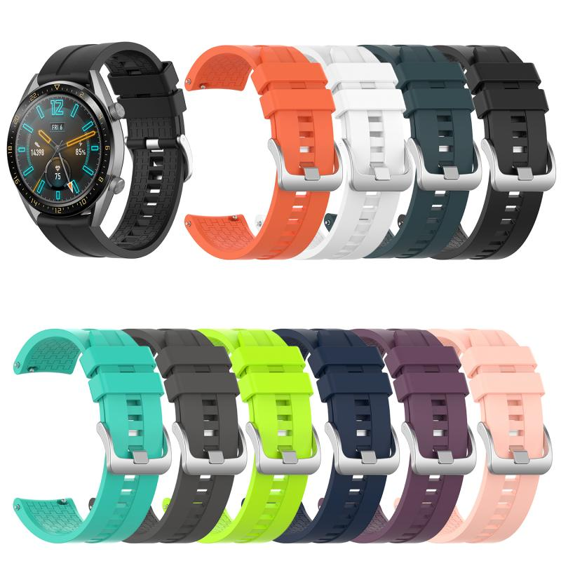 Pulsera de silicona para Huawei reloj GT 46mm correa de reloj deportivo moda blanco naranja Negro Azul verde oscuro correa de reloj