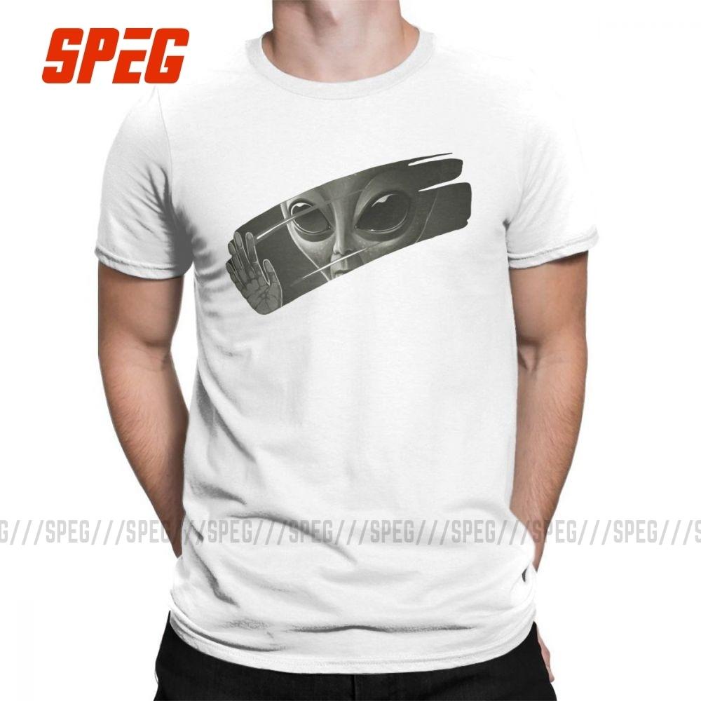 Alien homme t-shirts Hipster 100% coton manches courtes t-shirts O cou T-Shirt grande taille vêtements