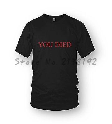 Dark Souls T-shirt You Died MENS Bloodborne, Dark Souls 3, Demons Souls PS4