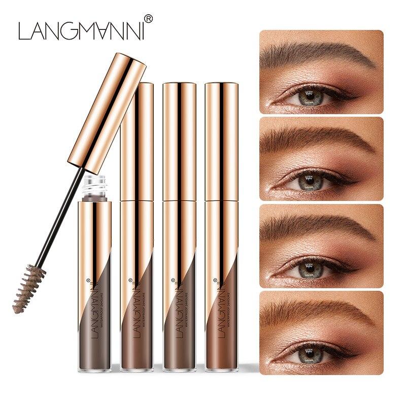 Marrón cejas crema rápido seco impermeable ceja Gel ceja de larga duración forma rimel Gel frente potenciador Semi maquillaje permanente