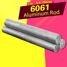 Solide Aluminium Legierung Stange 6061 Harte Aluminium Runde Stange Durchmesser 5/6/8/10/14/15mm Stange Verarbeitung