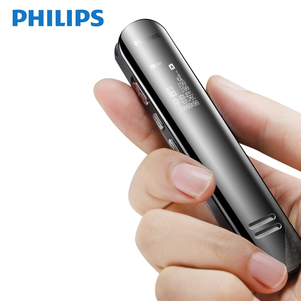 Gravador de Voz Horas de Registro Philips Original Digital Pcm Voz Ativada 12 16 gb