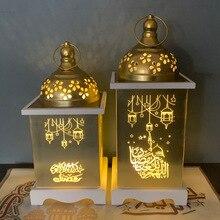 Lanterne arabe heureuse Eid pour Ramadan   Décoration du Ramadan aïd Mubarak, ornements en acrylique et en bois pour Ramadan, décoration de vacances