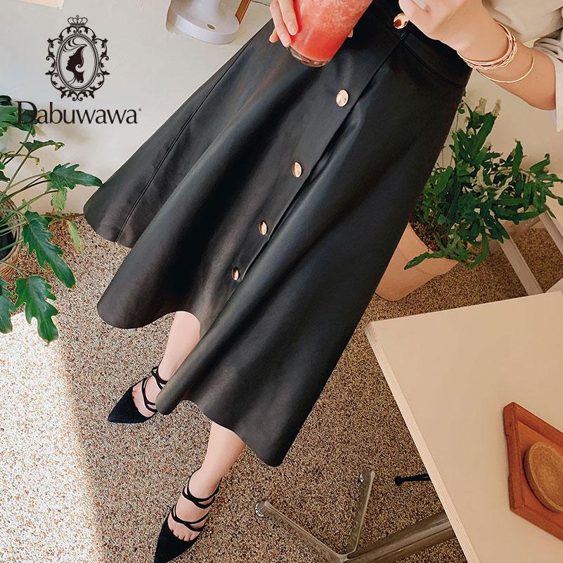 Dabuwawa Новые осенние женские черные юбки модные ретро Свинг подол трапециевидные юбки DN1CSK006