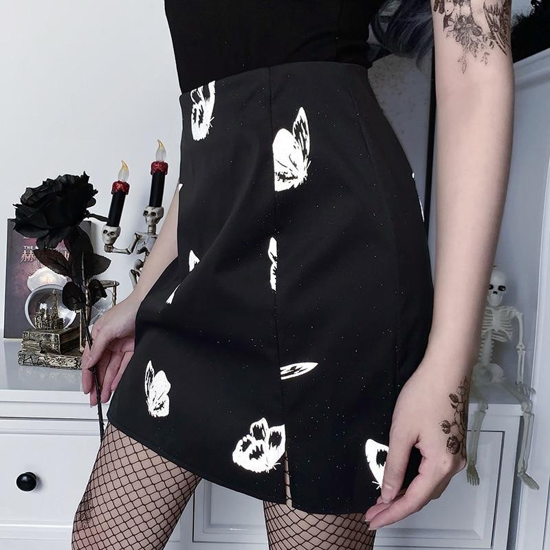 Женская мини-юбка с молнией на спине, с завышенной талией
