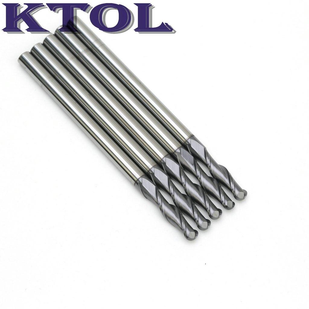 6x30x100 مللي متر 2 أنف كروي الفلوت الفولاذ المقاوم للصدأ نهاية مطحنة مجموعة كربيد التنغستن حفارة القاطع أدوات التوجيه CNC قطع لولبية