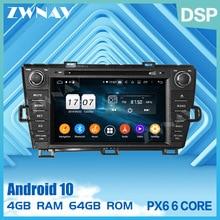 2 Din Ips Touchscreen Android 10.0 Auto Multimedia Speler Voor Toyota Prius Rhd 2009-2015 Bt Audio Stereo wifi Gps Navi Head Unit