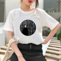 fashion chinchillas cartoon t shirt women lovely print short sleeved o neck t shirt vintage ullzang tshirt harajuku tops