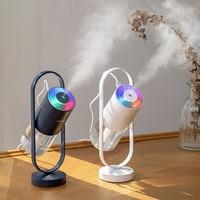 200ML Magic Shadow Humidifier 360 Degree Mist Spray Projector Lamp Ultrasonic Cool Mist Maker Aroma Diffuser USB Humidificador