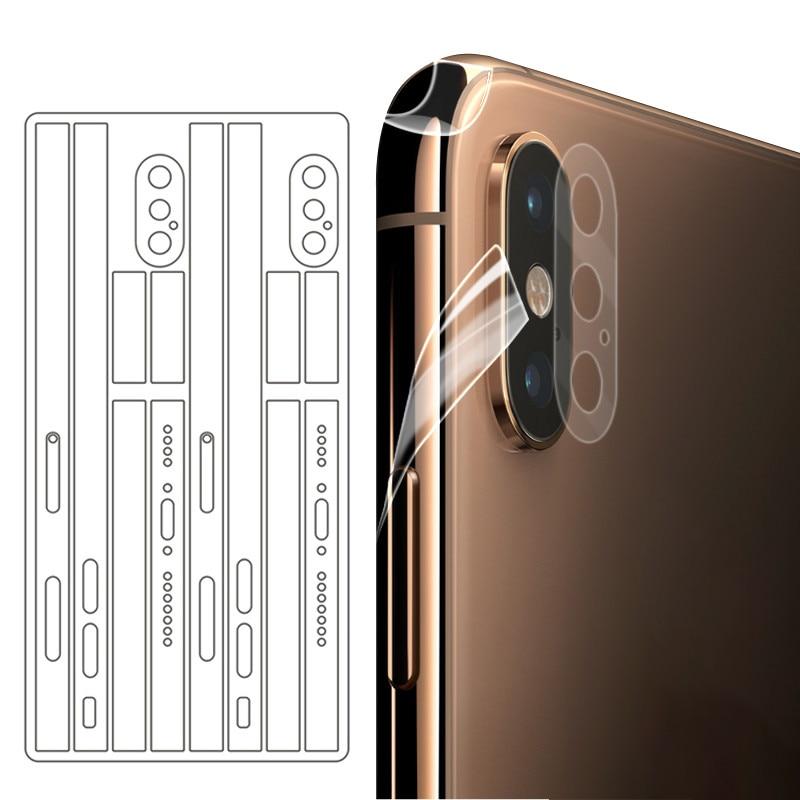 Nueva pegatina transparente ultradelgada para iPhone X XS MAX borde lateral película adhesiva para iPhone 11 11Pro Max película de hielo