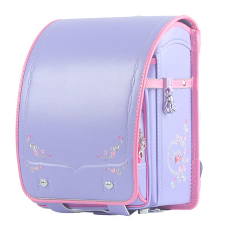 Kids Girls Sakura Embroidery Backpack Schoolbags Orthopedic Child Waterproof Japan Randoseru Primary Student Schoolbag  Satchel