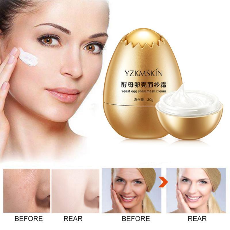 Sérum visage-crème soin de la peau hydratant lissage Pores rétrécissement coquille doeuf levure masque crème Anti-rides vieillissement raffermissant 30g