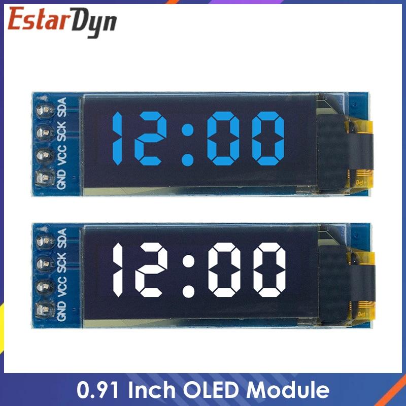 0.91 Inch OLED Module 0.91'' White/Blue OLED 128X32 OLED LCD LED Display Module 0.91'' IIC Communicate for Arduino