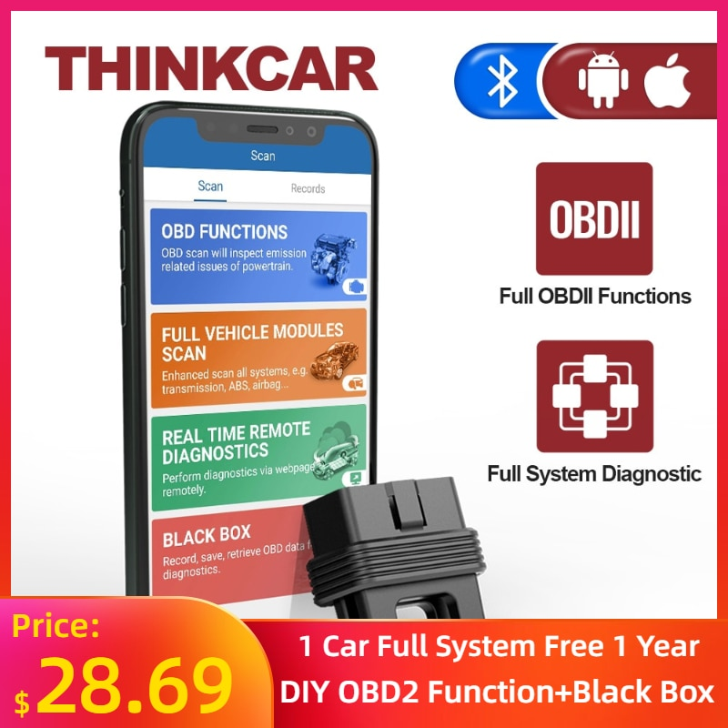 THINKCAR 1S OBD2 Scanner Car Full System Diagnostic Tool Code Reader Full OBDII Functions Automotivo DTCs Lookup Print Report thinkcar thinkscan 609 obd2 car scanner engine tcm abs srs full system auto code reader obd 2 scanner automotivo diagnostic tool