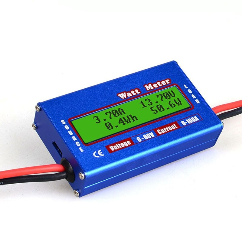 Watt Volt Amp Meter Balance Voltage Battery Power Analyzer RC Checker Professional DC 60V 100A Balancer