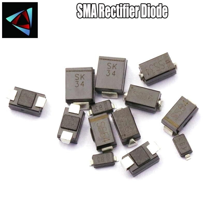20 piezas gran SK54 SS54 5A/40V SMC DO-214AB diodo Schottky